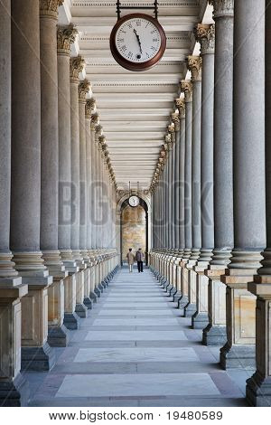 Time is passing... (colonnade in Karlovy Vary, Czech Republic)