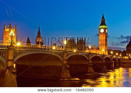 Londres à noite, UK