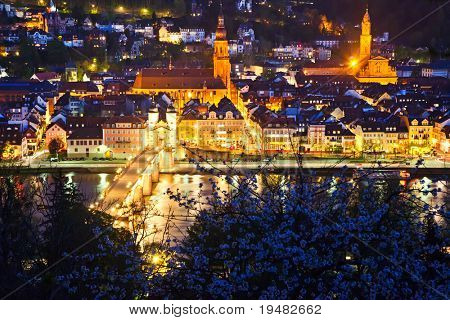 Heidelberg at night, Germany