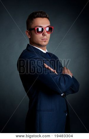 Confident Fashion Business Man