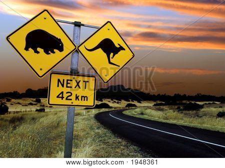 Señal de tráfico de Australia