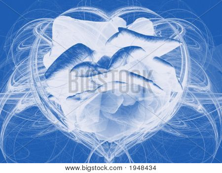 A Blue Rose In A Heart