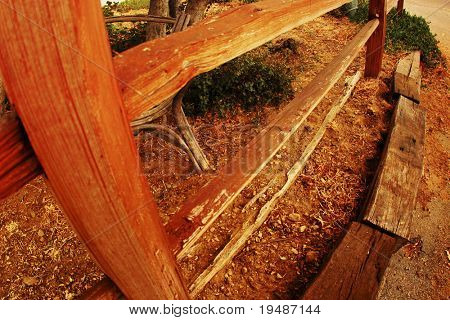 photo of wooden fence in the countryside