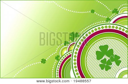 clovers green background. Happy four petals