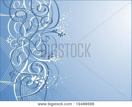 vector floral background. Gentle and elegant.