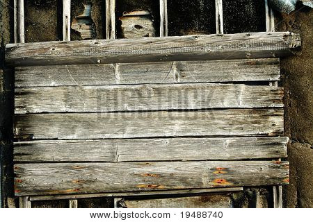 Old wooden surface. On it it is possible something to write