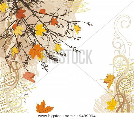 autumn vector background / corner