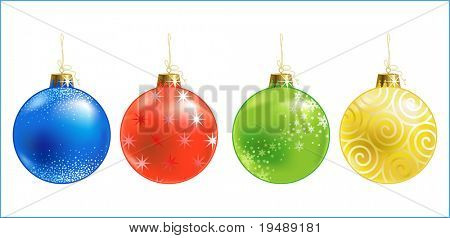Christmas ball / christmas ornament / vector