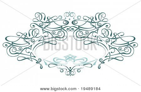 Scroll frame / vector / art deco style. Ideally for your use