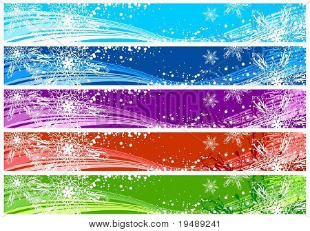 Christmas banners for Internet (468x60 and 730x90 sizes)  with space for your text