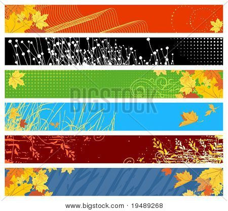 floral & autumn website banners / 468x60 & 730x90 sizes / Color collection