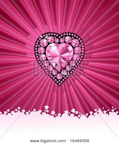 HEART OF LOVE / Diamond heart / vector background  with space for your text