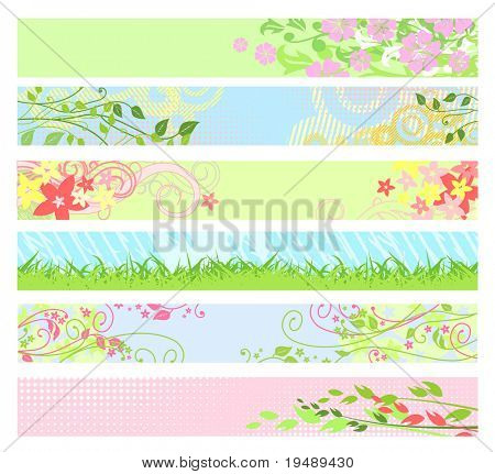 Spring floral website banners / vector / for your web-site
