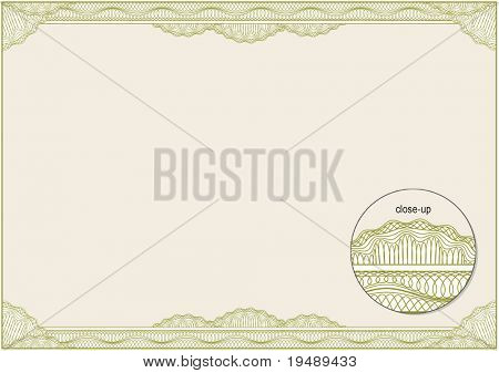 Classic guilloche border for diploma or certificate. A4 / CMYK Layers are separated!