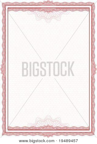 Classic  border for diploma or certificate. A4 .
