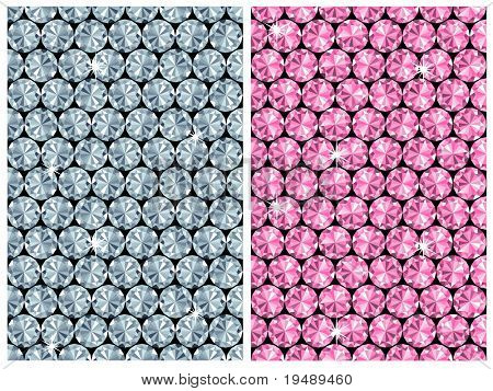 diamond seamless pattern / vector / 2 color variants