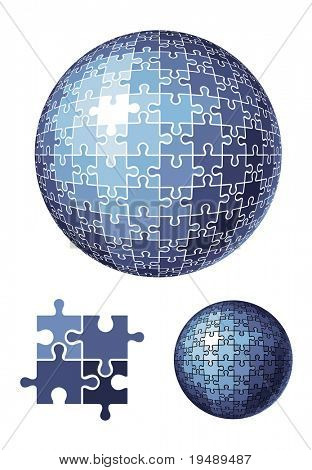 puzzle esfera / vector illustration