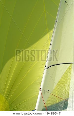 Fragment of a sail / a sailing background / yachting