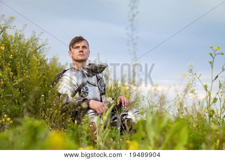 weary knight, after the battle / think about  past