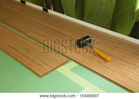 XXXL size \ carpentry \ background with light-brown cover