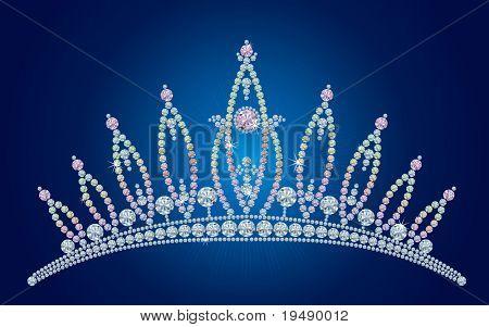 Diadema - novia, princesa o reina de la belleza del diamante / vector ilustraciones / capas están separadas