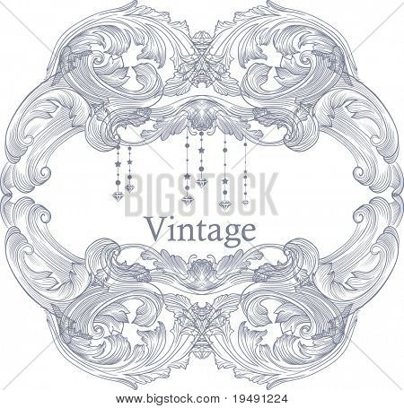 high quality bold vintage frame - suit for cover design - card design