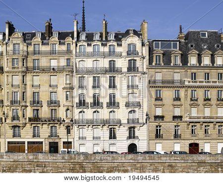 France, Paris: very nice facade of ile de la cite