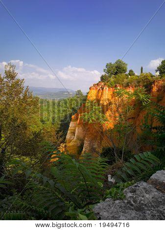 France, Vaucluse, Luberon, Roussillon:  ochre quarry