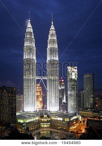 Malaysia -  Kuala Lumpur Cityscape with twin tower (large format photography)