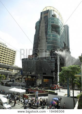 BANGKOK - MAY 25: Damage in Bangkok estimated at 50 to 60 billion baht, here part of worst destruction in CentralWorld shopping complex, one of the largest malls in Asia tuesday 25, 2010 in Bangkok