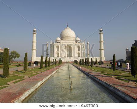 Asien Indien Uttar Pradesh Agra weißen Marmor Taj mahal