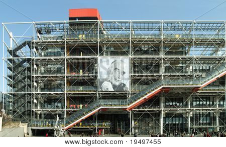 PARIS - MARCH 03: The famous french cultural center Beaubourg celebrate the 100th anniversary of Georges Pompidou on March 03 2011 in Paris