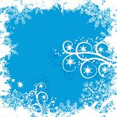 pic of ice crystal  - Grunge snowflakes background - JPG
