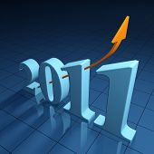 Bright financial outlook for the year 2011 - 3d render