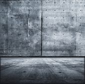 Grunge concrete room