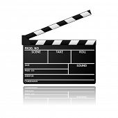 stock photo of clapper board  - Clapboard in vector design - JPG