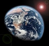 image of planet earth  - Planet Earth in Space - JPG