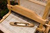 stock photo of handloom  - loom with threads - JPG