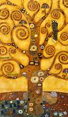 Постер, плакат: дерево абстрактного вихрем масло на холсте