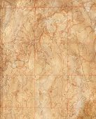 stock photo of longitude  - Old Topographical Map  - JPG