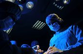 stock photo of anesthesia  - Medical team performing an operation  - JPG