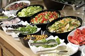stock photo of buffet lunch  - Salad buffet  - JPG