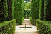 Garden of the Poets, Alcazar Palace, Seville