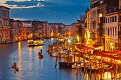 foto of sicily  - Grand Canal at night - JPG