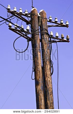 Old electrical tower