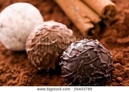 Schokolade Trüffeln