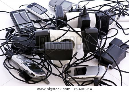 Cell Phone Cable Chaos