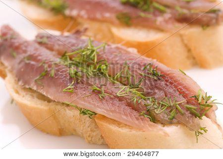 Anchovies Bread
