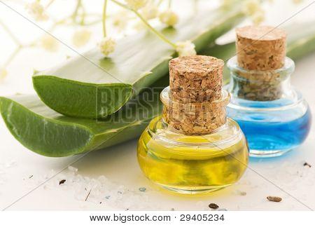 Aloe con aceite de masaje