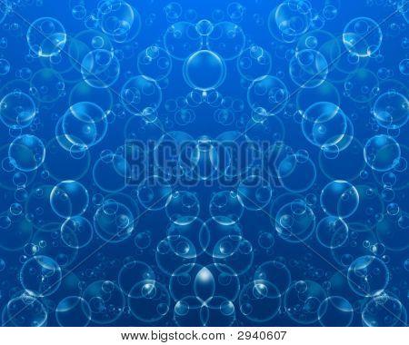 Fondo de burbuja de aire